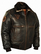 Airborne Apparel Кожаная лётная куртка Airborne Apparel Top Gun 3G Brown
