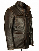 Airborne Apparel Кожаная куртка Airborne Apparel Military M65 Brown