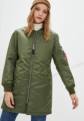 Куртка Alpha Industries MA-1 Long W - Фото 1