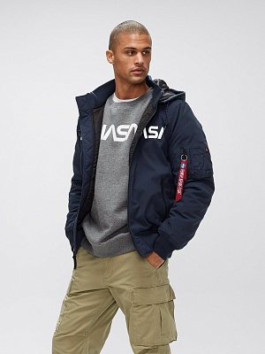 Alpha Industries Куртка-бомбер Alpha Industries MA-1 Hooded NASA II