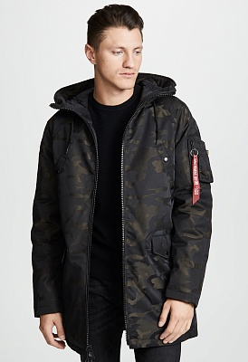 Куртка Alpha Industries N-3B Down Parka Jacquard - Фото 1
