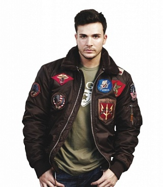 Top Gun Куртка Top Gun Flight Bomber Jacket with Patches, B-15