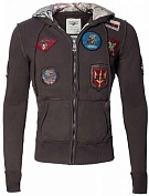 Top Gun Реглан Top Gun Zip-Up Military Patched Hoodie