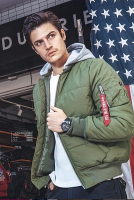 Куртка-бомбер Alpha Industries MA-1 Natus Quilted  - Фото 1