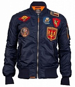 Top Gun Куртка Top Gun Nylon Bomber Jacket with Patches, MA-1