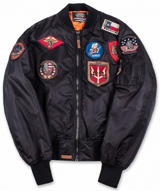 Top Gun Куртка Top Gun Nylon Bomber Jacket w/p, MA-1 Black