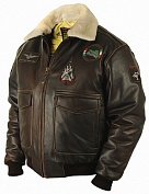 Airborne Apparel Кожаная лётная куртка Airborne Apparel Type A-2 Tornado Brown