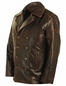 Airborne Apparel Бушлат кожаный Airborne Apparel Nimitz Brown
