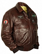 Airborne Apparel Кожаная лётная куртка Airborne Apparel Type A-2 Tornado R/Brown